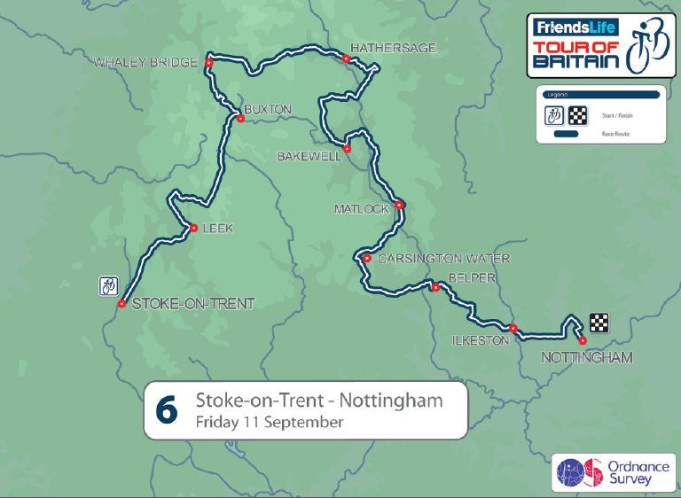 Cycle Tour Of Britain Nottingham Route