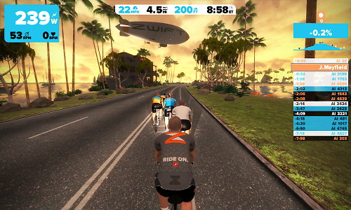 Zwift Launch Online Indoor Cycling System Road Cc