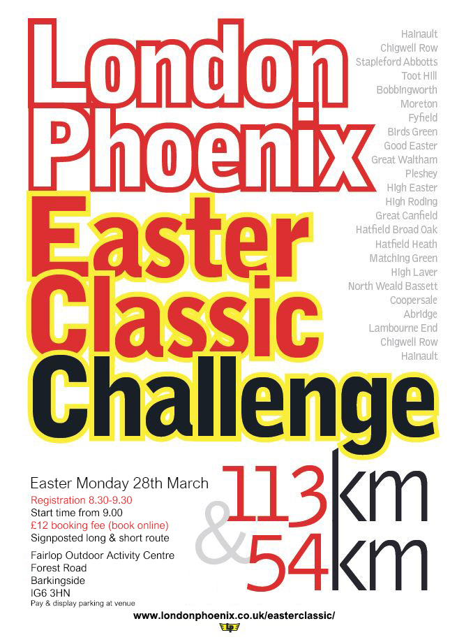 London Phoenix Easter Classic 112Km or 54km