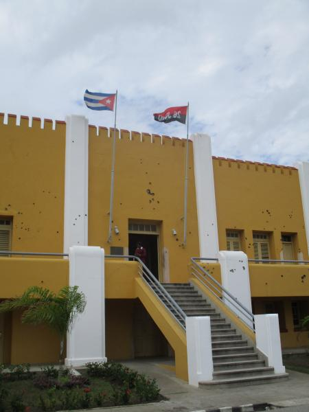The barracks where it all began in Santiago de Cuba complete with the first bullet holes of the Revolution.jpg