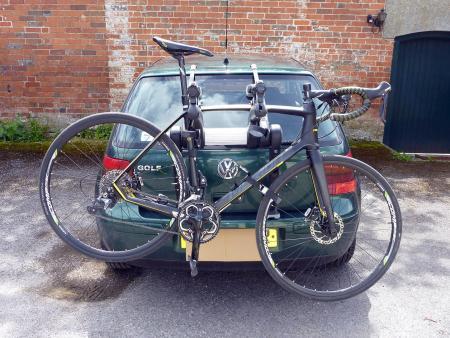 Saris Super Bones 3-Bike Rack - on Golf one bike.jpg