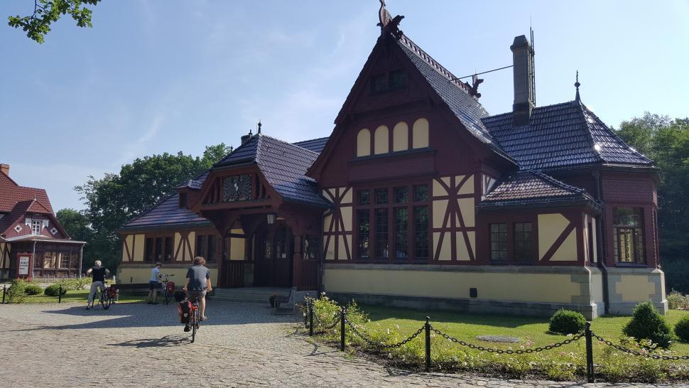 Exterior of Joachimsthal station
