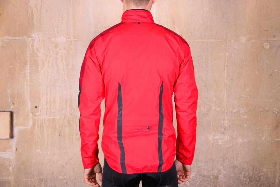 Altura Nightvision Waterproof Jacket Team Red - back.jpg