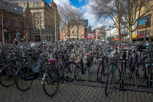 Amsterdam bike parking (CC licensed by Paul Frederickson via Flickr).jpg