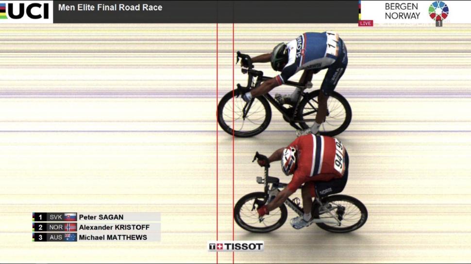 Bergen 2017 men's road race photo finish via Tissot Timing.jpeg