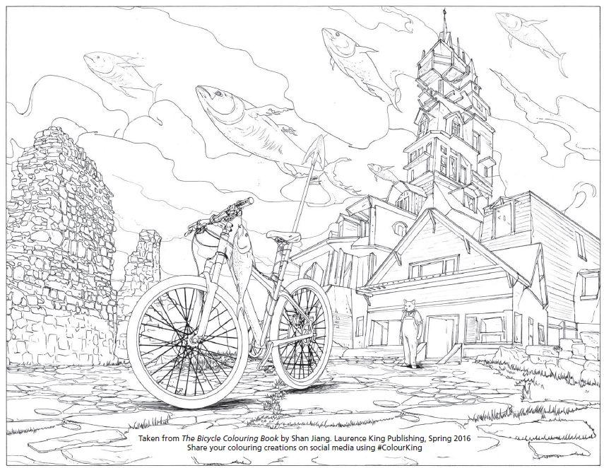 bicycle colouring book sample illustrationjpg - Coloring Book For Grown Ups