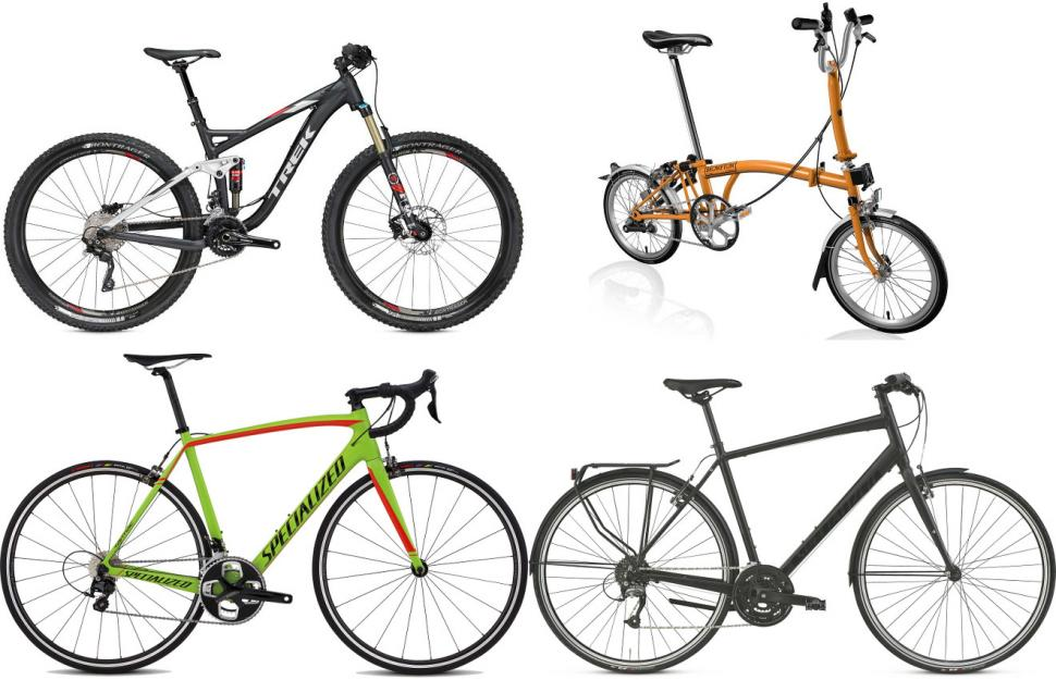 types of bicycle Bicycle design basic types most present-day bicycles fit into six main categories: utility, touring, racing, mountain, hybrid, and bmx utility bicycles are basic transportation in developing countries, where hundreds of millions are in service in the developed world, utility bicycles are used by children or by adults for short trips.