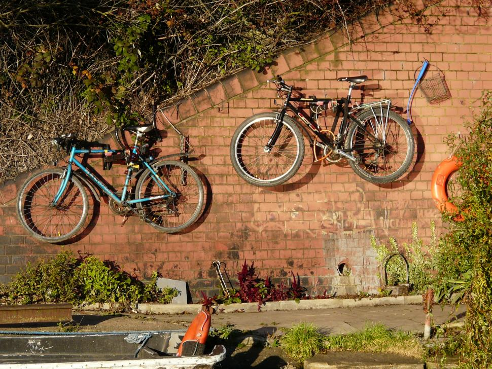bikes on a wall cc bync 20 carron brownflickr - Indoor Bike Rack
