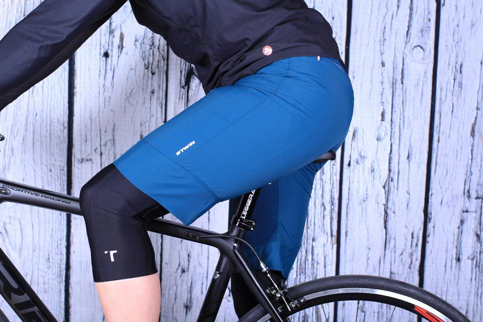 review btwin 500 s mountain bike shorts road cc