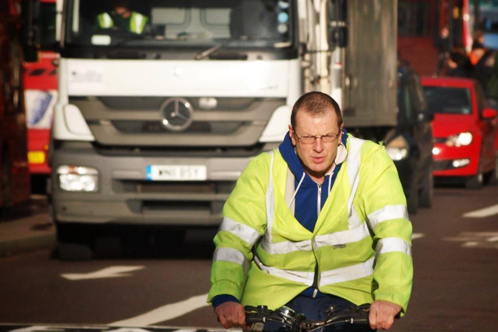 Cyclist and lorry (copyright Simon MacMichael) (1).jpg