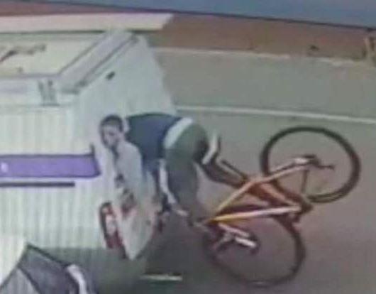 Thumbnail Credit (road.cc): Cyclist crashes into back of van (via Georgina Taylor on Facebook).JPG