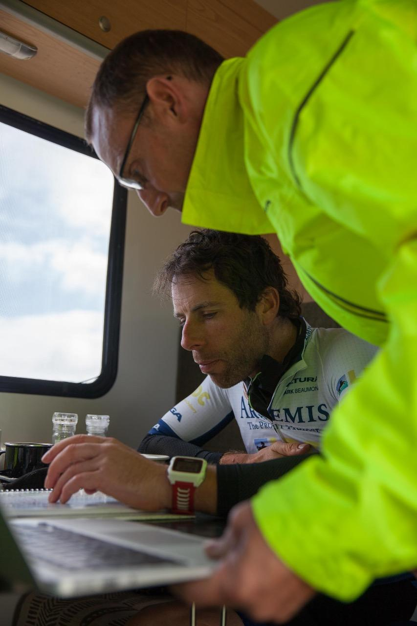 Mark Beaumont route change plan at lunch time