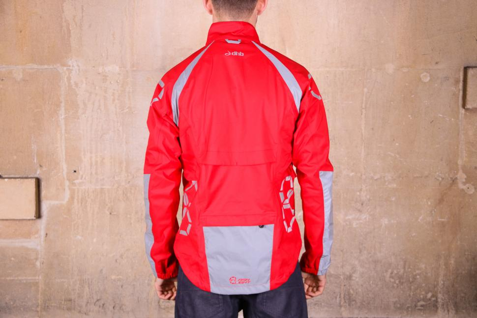 dhb Flashlight Force Waterproof Jacket - back.jpg