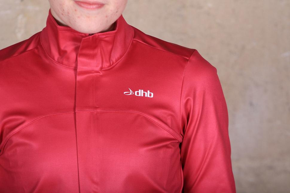 dhb Womens Aeron Rain Defence Long Sleeve Jersey - shoulder.jpg