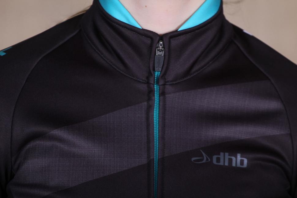 dhb Womens ASV Windslam Roubaix Long Sleeve Jersey - collar.jpg