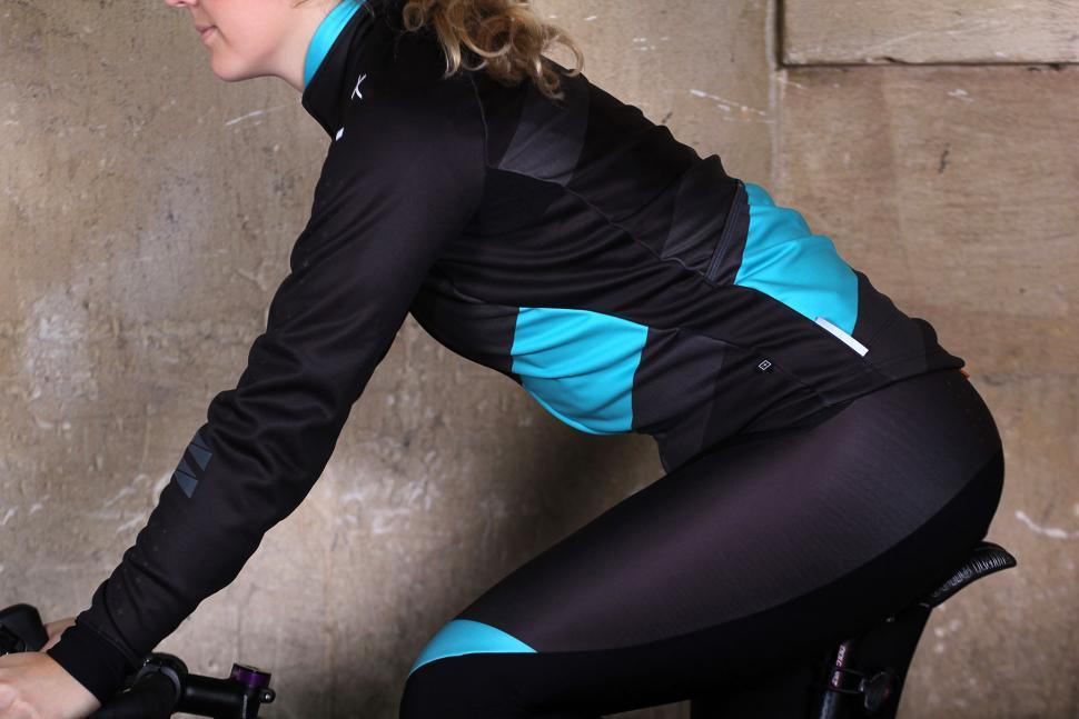 dhb Womens ASV Windslam Roubaix Long Sleeve Jersey - riding.jpg
