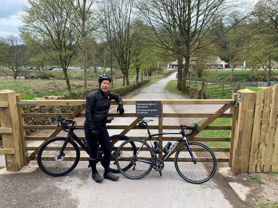 Duke of Devonshire employs security guards to keep cyclists off estate