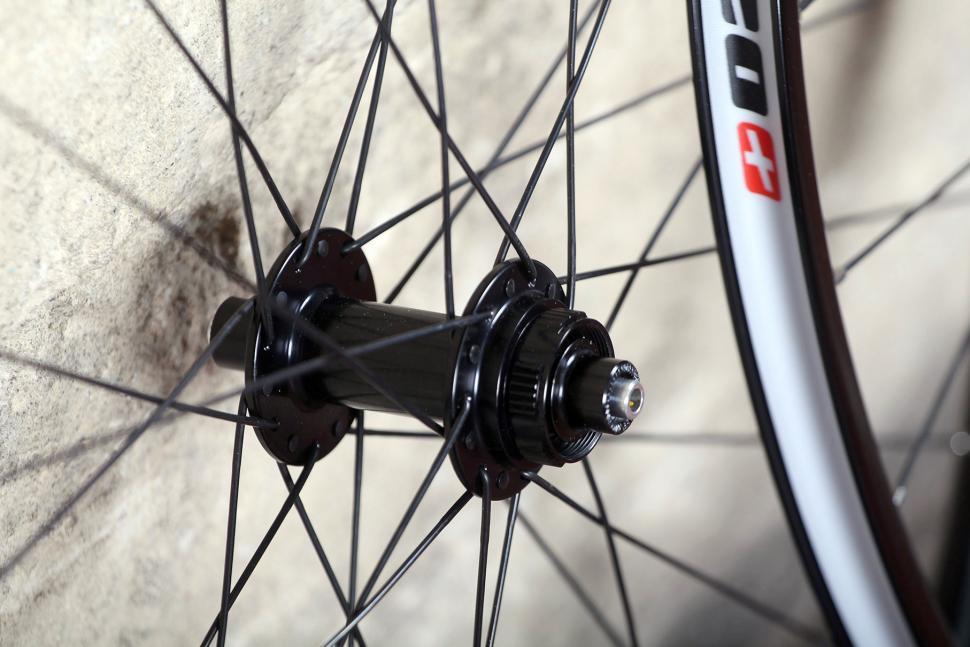 Edco Roches Disc Brake Tubeless Ready wheelset - front hub.jpg