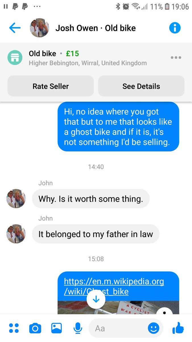 Ghost bike for sale on Facebook Marketplace?