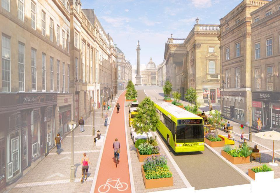 Pop-up changes to Newcastle's iconic Grey Street set to be made permanent