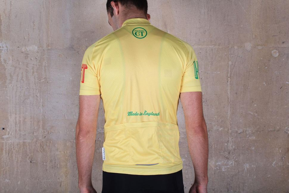 Hackney GT Yello Velo Short Sleeved Jersey - back.jpg