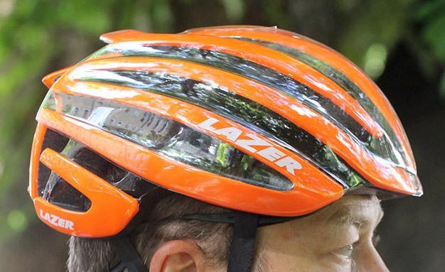 Lazer helmet with cover