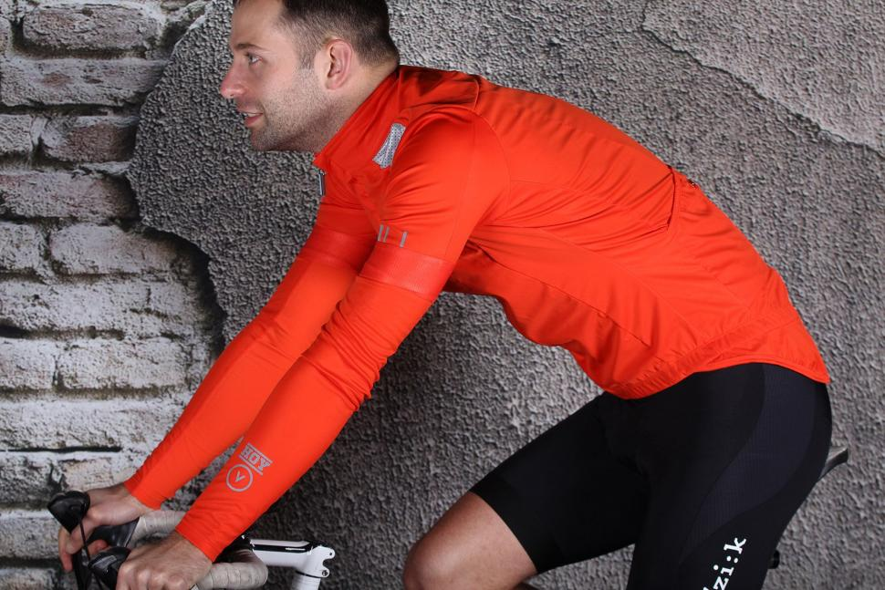 HOY Vulpine Mens Fortress Jersey and Arm Warmers - riding.jpg