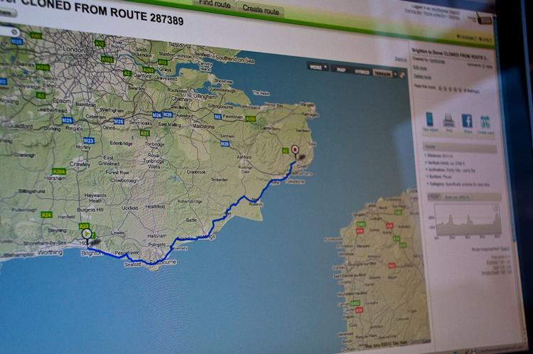 Brighton to Dover route