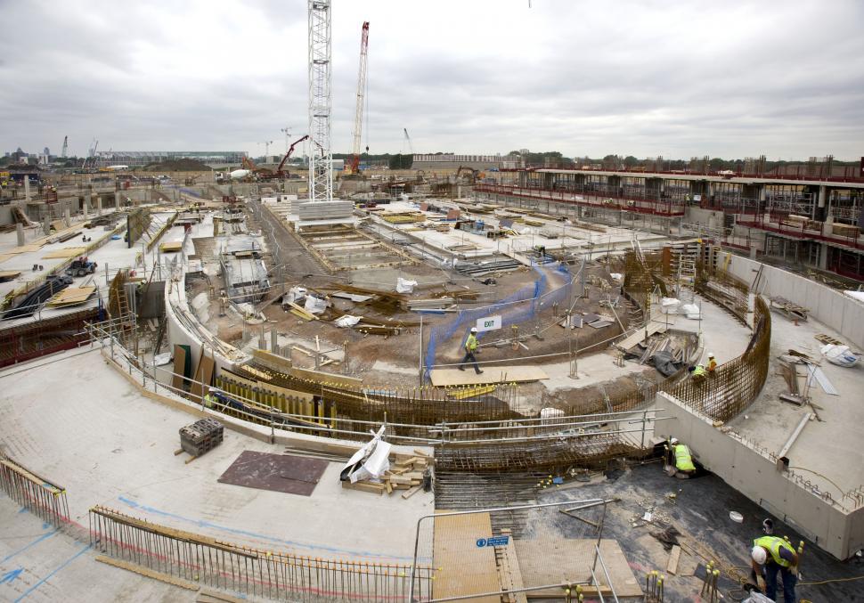 London Olympic velodrome under construction