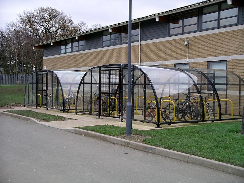 Bike sheds ©Snowmanradio, Wiki Commons