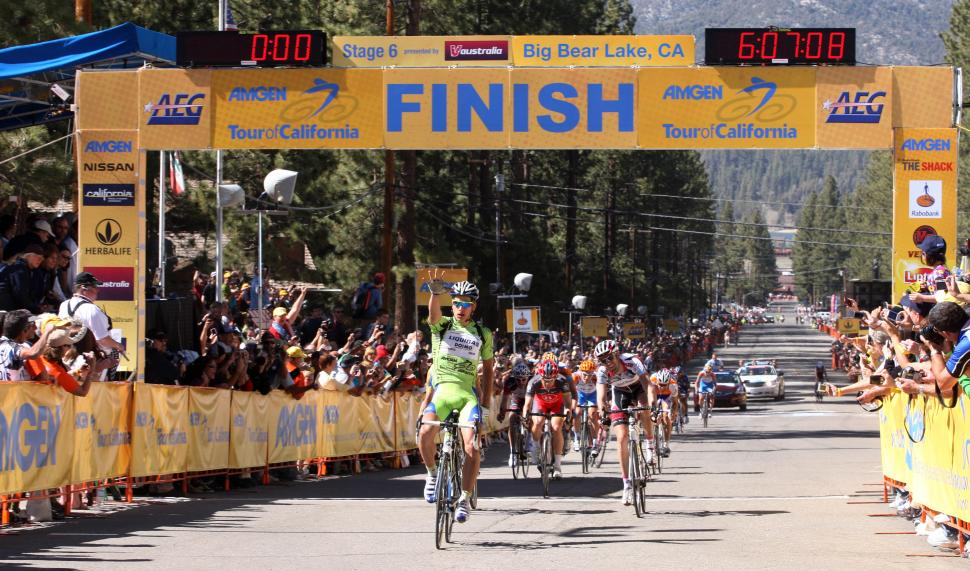 Amgen Tour of California stage 6 Peter Sagan 1st, Rory Sutherland 2nd, Michael Rogers 3rd / Photosport International