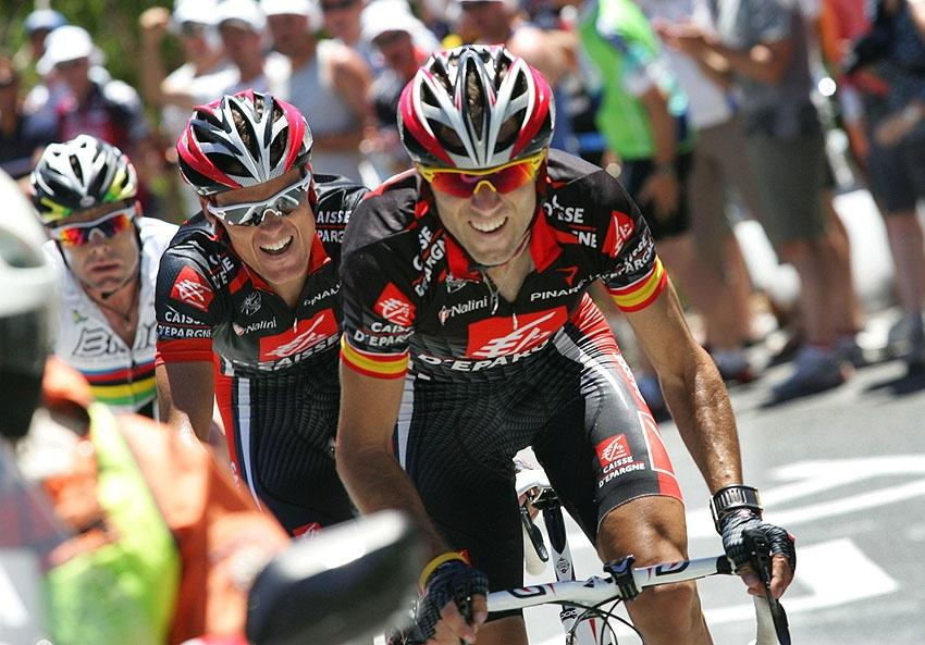 Alejandro Valverde and Leon Luis Sanchez (photo credit Tour Down Under : John Veage).jpg