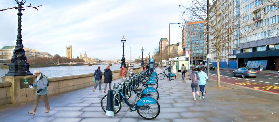 Barclays Cycle Hire Scheme Albert Embankment impression.jpg