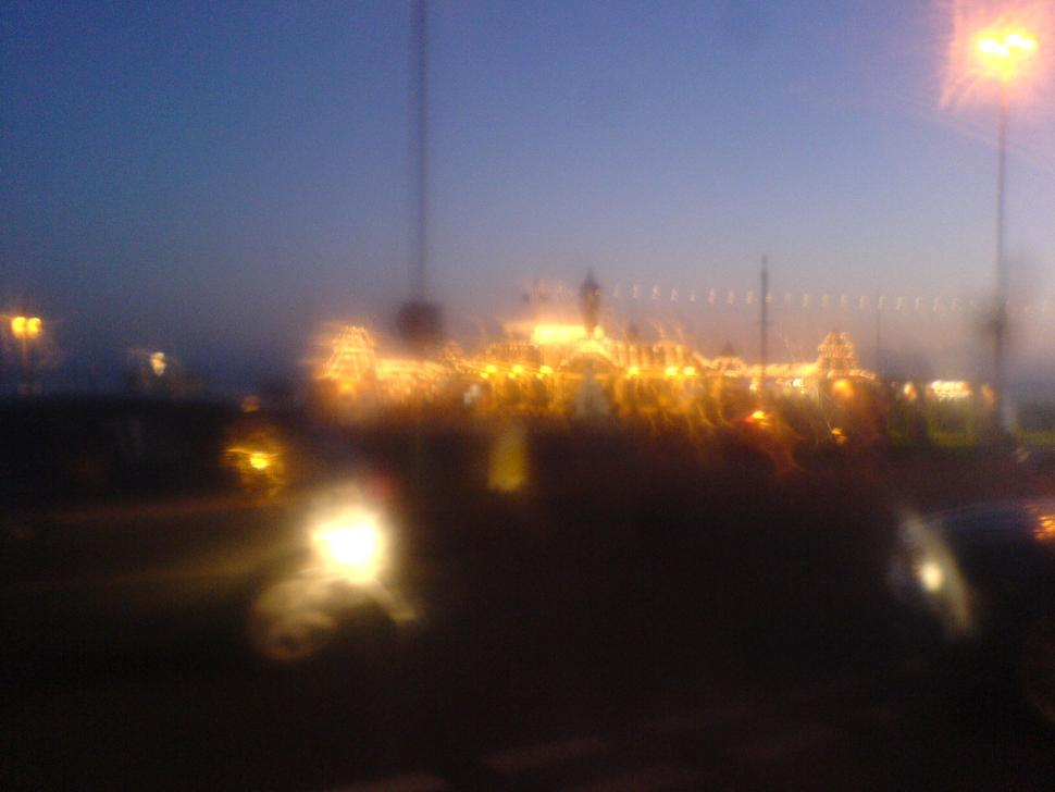 A Blurry Brighton Post Ride