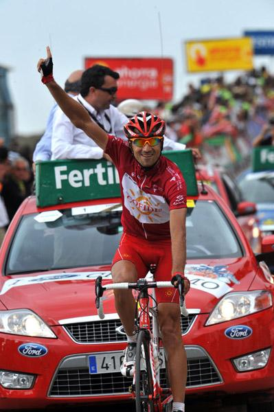 David Moncoutié wins Vuelta Stage 13 at Sierra Nevada © Unipublic