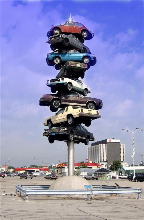 Free Parking sculpture (photo credit Jamie_Wikimedia Commons).