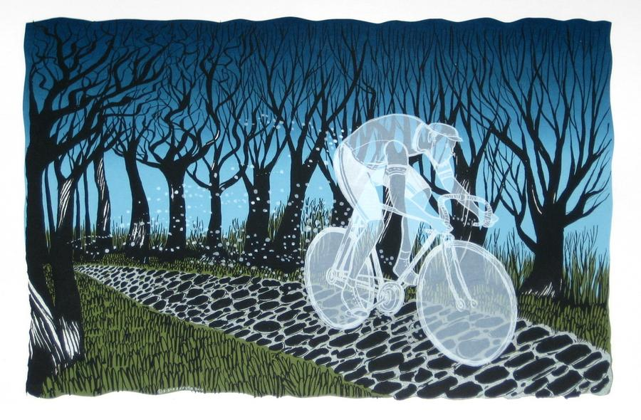 Ghost Rider of the Paris-Roubaix by Diana Sudyka at poster cabaret