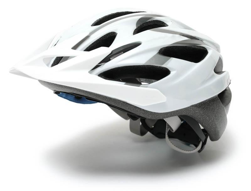 White cycle helmet