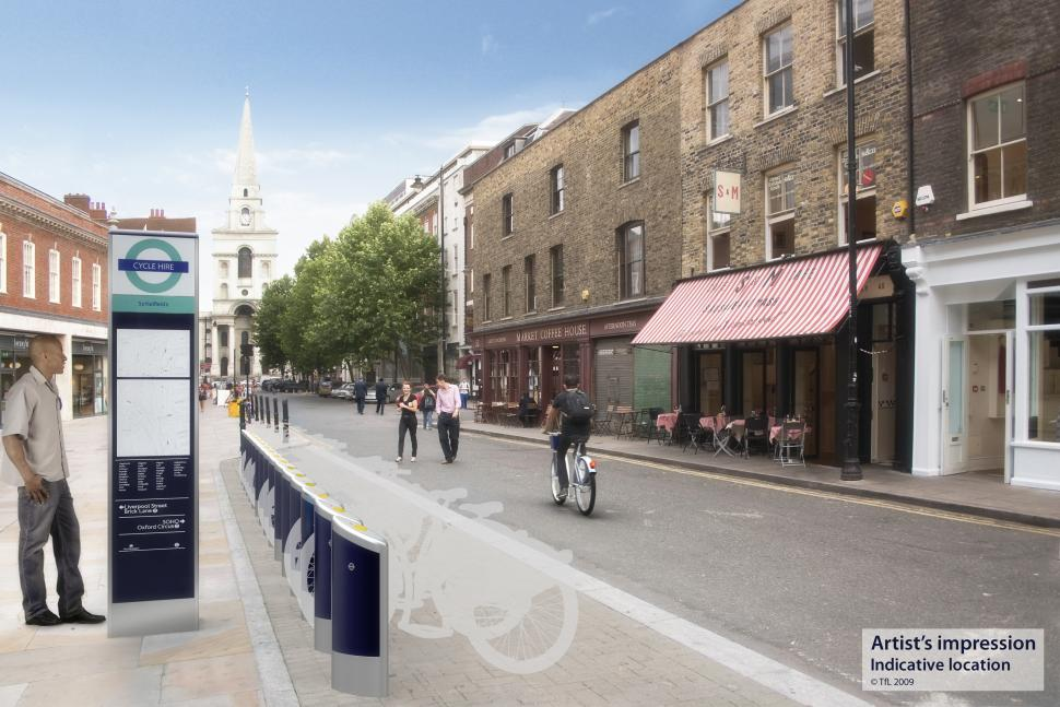 Indicative image of London Cycle Hire scheme (courtesy of TFL)