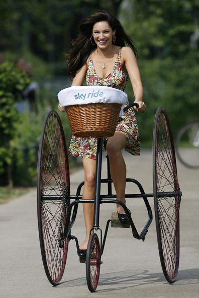 Kelly Brook on Cyclemagic tricycle
