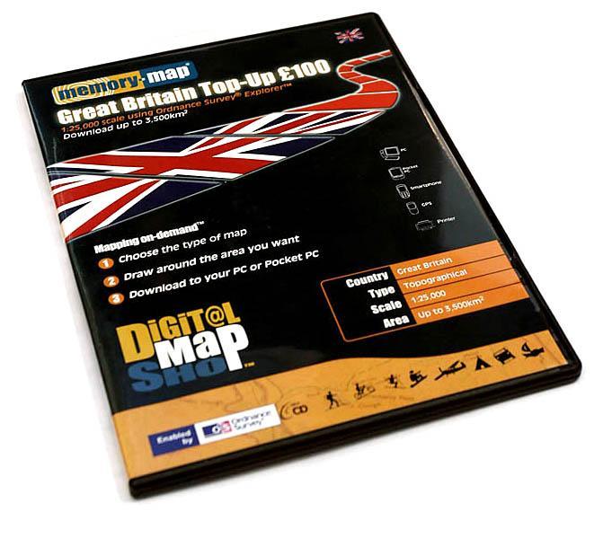 Memory Map Digital Map Shop top up CD