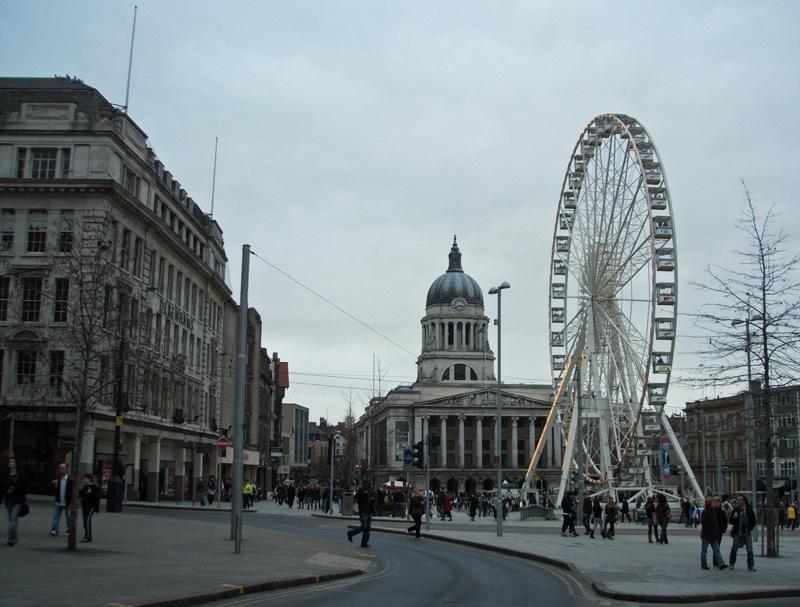 Nottingham city centre (photo: Crashlanded)
