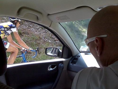 Magnus Backstedt in the team car