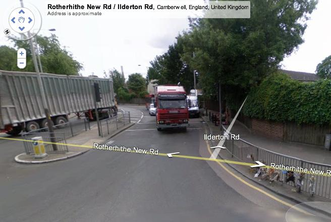 Junction of Rotherhithe New Road and Ilderton Road, from Google Streetview