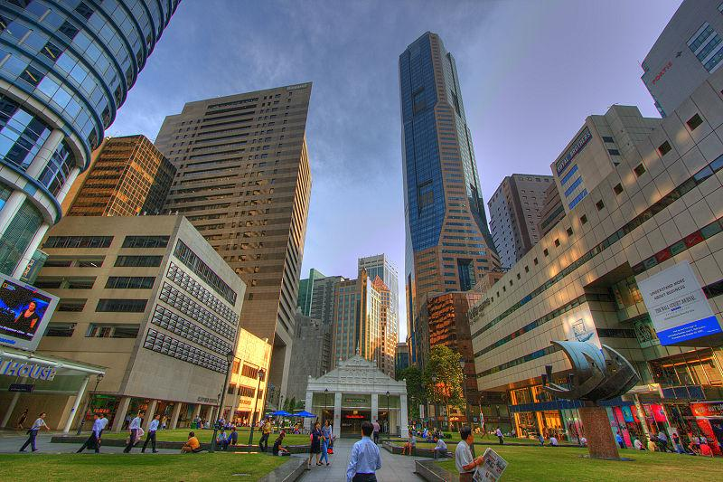 Singapore's Raffles Place (Ramir Borja, Wikimedia Commons).jpg