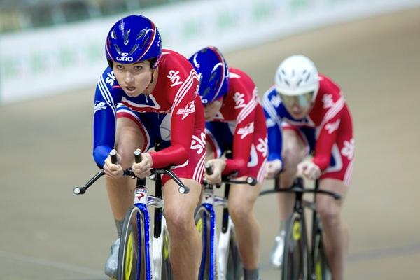 Team GB women's team pursuit at Euro Trackls 2010 (picture credit LangTeam).jpg