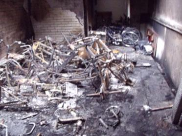 Wheels for Wellbeing's Brockwell Park facility after the arson attack