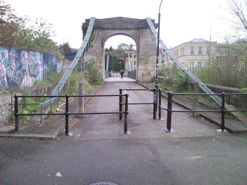 Bridge behind Homebase in Bath