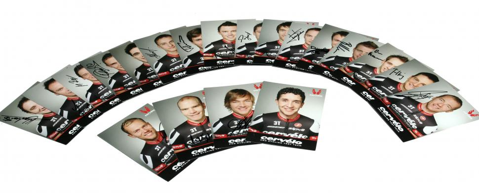 Cervelo test team signed cards
