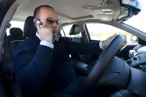 driving using mobile phone
